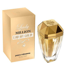 Perfume Importado Lady Million Eau My Gold Feminino Edt 80ml