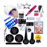 Kit Unhas Gel Acrigel  Fibra Porcelana Completo Cpt