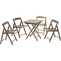 Conjunto De Mesa/cadeira De Madeira Tramontina