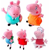 Família Da Peppa Pig + Bailarina Peppa De Pelúcia Pepa Georg