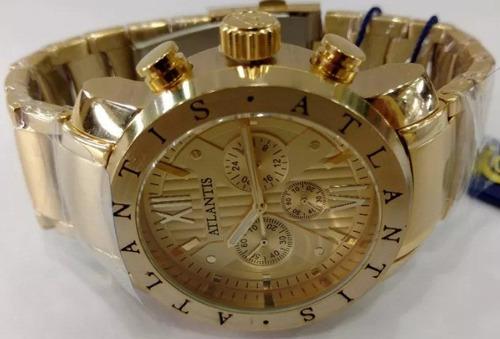 ed8d357bb43 Relógio Atlantis Style A3310 Original Dourado Frete Gratis