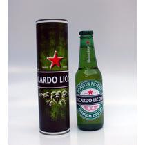 4 Garrafas De Cerveja Com Lata E Rotulo Personalizados