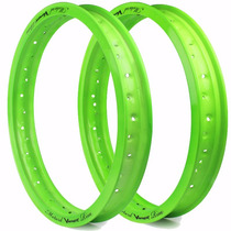 Aro De Moto Motard Viper Dianteiro E Traseiro - Verde Neon