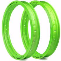 Aro Motard Viper 18 X 1.85 E 18 X 2.15 - Verde Neon