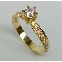 Anel Solitário Ouro 18k Noivado, Casamento. Qualquer Ocasião