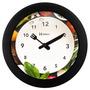6651 - Relógio Parede 21 Cm Cozinha Preto Branco Herweg