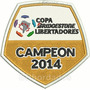 Tpc188 Copa Libertadores 2014 Tag Patch Bordado 8x7,8cm