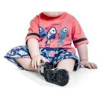 Conjunto Infantil Masculino Peixinhos Bermuda Estampada -...