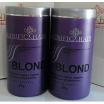 Kit Com 2 Pó Descolorante Magnific Hair 500g Original