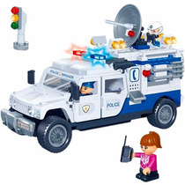 Brinquedo Novo Banbao Polícia Carro Patrulha 290 Peças 5003