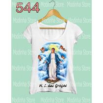 Nossa Senhora Das Graças Tshirt Camiseta Feminina Religião
