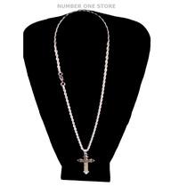 Pingente Crucifixo Corrente Cordão Aço Cirúrgico Inox 316l