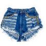 Short Jeans Customizado Detonado Destroyed Hot Pant Atacado
