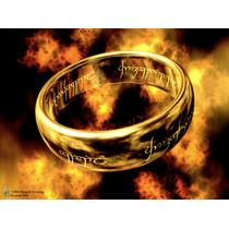 Anel Senhor Dos Anéis Banhado A Ouro