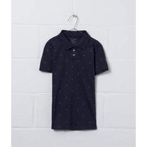 Camiseta Polo Ellus Kids All Over - Azul Marinho