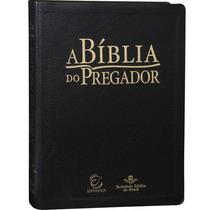 Bíblia Do Pregador Revista Atualizada Preta Couro Luxo Sbb