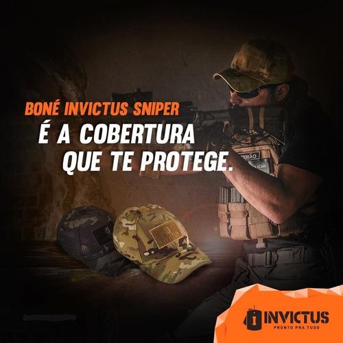 Boné Tático Invictus Sniper - Militar Camuflado. Preço  R  79 Veja  MercadoLibre ded67ef13f6