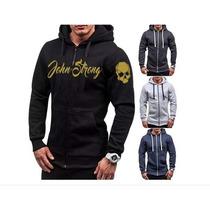5a84cf813 Moletom Blusa De Frio Masculino Ziper John Strong Esporte à venda em ...