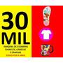 Kit 30 Mil Estampas De Chinelos Camisetas E Canecas