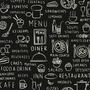 Papel De Parede Adesivo Gourmet Menu Restaurantes Cardápio