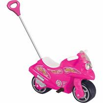 Brinquedo Infantil Bella Moto Rosa Com Haste Calesita 950