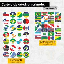 Adesivos Resinados -  Bandeiras Estados Brasileiros - G