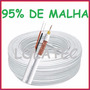 Cabo Coaxial 4mm Cftv C/ Alimentação Bipolar 30mts 95% Malha