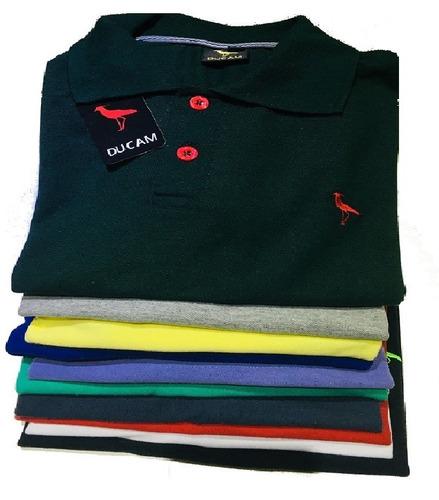 0cd6564416 Kit C 10 Camisas Camisetas Atacado Gola Polo Masculina Frete - R ...