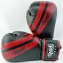 Luva De Boxe Spank Premium Preto Com Vermelho - 14oz