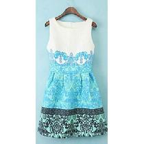 Promoçâo Imperdível Vestido Vintage Fashion Brocado (p)