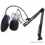 Microfone Estúdio Profissional Bm970 + Pop Filter + Aranha