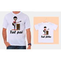 Camisetas Pai E Filho Guitarristas