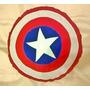 Almofada Escudo Capitão América 45 Cm Marvel