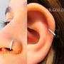 Piercing Cravejado De Zircônias P/ Nariz Ou Orelha Cor Prata