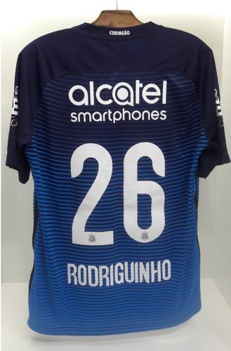 Camisa Corinthians 3 2016 Nº 26 Rodriguinho 066beb7678115