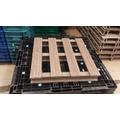 Pallet Plastico Madeira Plastica Tambor Deck Moveis 71x75x14