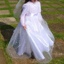 Vestido Infantil Longo Festa Casamento Daminha Noivinha Flor