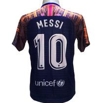 8275575f3b024 Camisa Barcelona Azul Escuro Laranja Nova 2019 Messi à venda em ...
