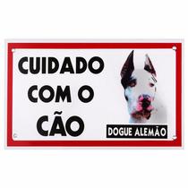 Placa De Advertência Caes - Cuidado Com O Cão Dog Alemao