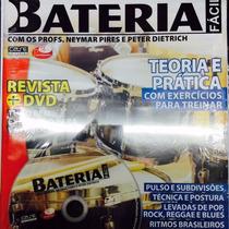 Video Aula Bateria Iniciante Revista + Dvd Frete Grátis
