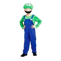 Fantasia Infantil Masculina Luigi Mario Bros - M 1,10 A 1,20