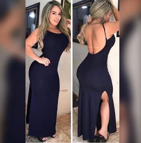 284e2e42b Vestido Longo Costa Nua Espvalentina à venda em Ferraz de ...