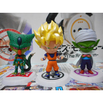 Conjunto Gashapon Dragon Ball Z - Goku Piccolo Cell - Bandai
