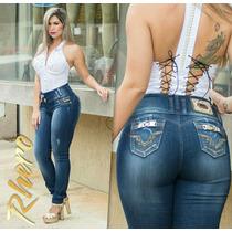 Calça Jeans Rhero Skinny Com Bojo Levanta Bumbum