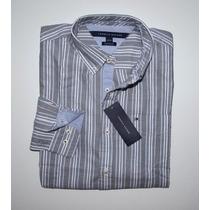 Camisa Social Tommy Hilfiger Tamanho M / M Manga Comprida
