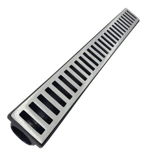 Ralo Linear Seca Piso 6x50 Cm  Grelha Em Alumínio