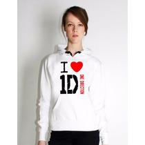 Blusa I Love One Direction Moletom Canguru Frete Grátis