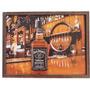 Quadro Relevo Adesivado Placa Whisky Jack Danials No Balcão
