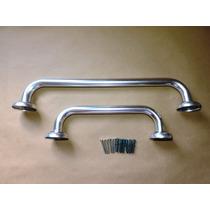Kit 2 Barras De Apoio Aluminio 30cm/40cm Idosos Deficientes