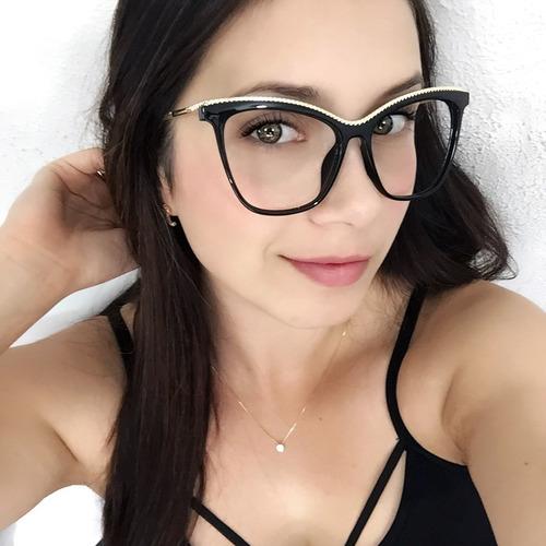 Óculos Feminino Armação P  Lentes Grau Vintage Jacobs Dourad b7ed9cef56